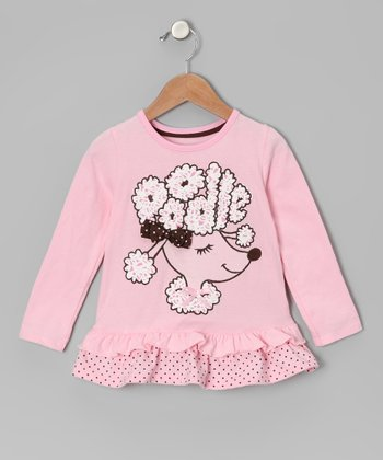 Light Pink Poodle Ruffle Tee - Infant & Toddler