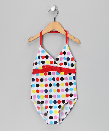 Red Polka Dot One-Piece - Toddler & Girls