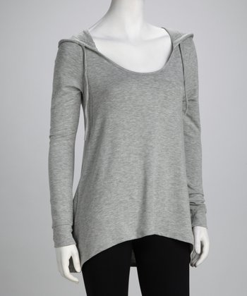 Heather Gray Hi-Low Hoodie