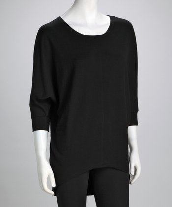 Black Hi-Low Tunic
