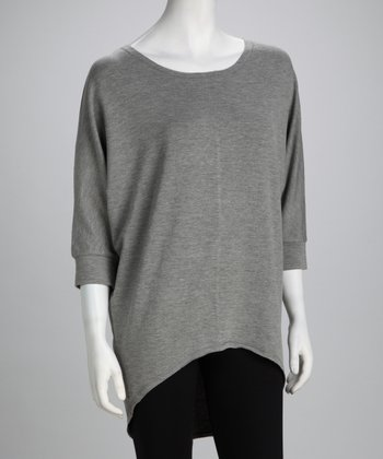 Heather Gray Hi-Low Tunic