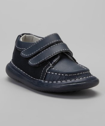 Navy Squeaker Dress Shoe
