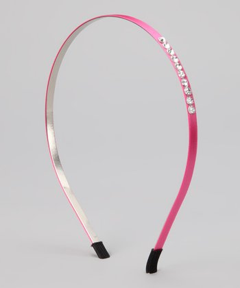 Pink Thin Satin Covered Headband