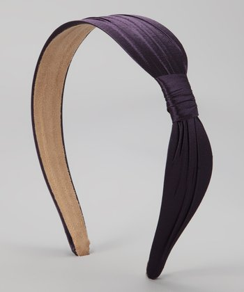 Purple Wide Satin Headband