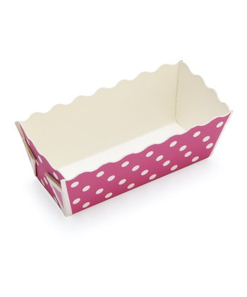Purple Polka Dot Mini Loaf Pan - Set of 12