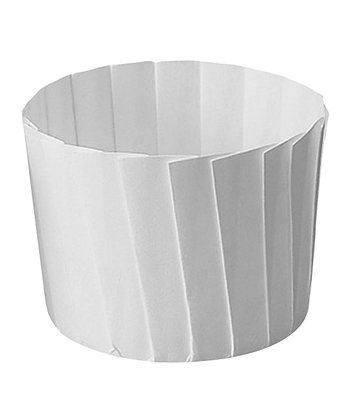 White Pleated Baking Cup - Set of 12