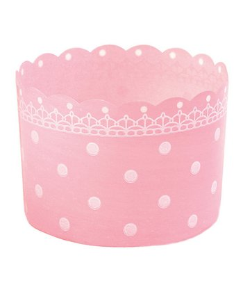 Pink Polka Dot Baking Cup - Set of 12