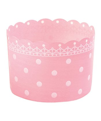 Pink Polka Dot Baking Cup - Set of 24