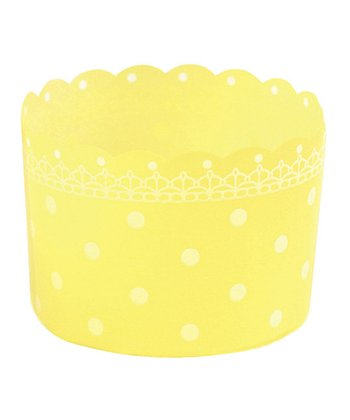 Yellow Polka Dot Baking Cup - Set of 12