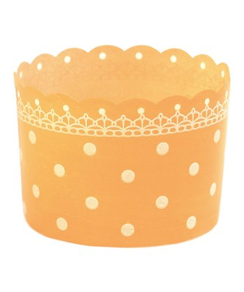 Orange Polka Dot Baking Cup - Set of 12