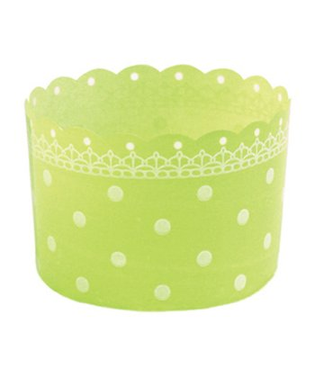 Green Polka Dot Baking Cup - Set of 12