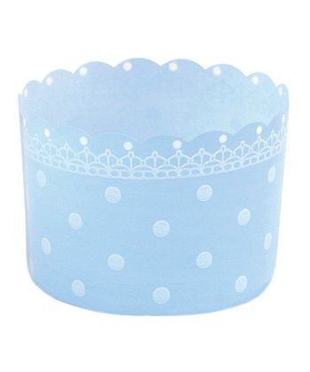 Blue Polka Dot Baking Cup - Set of 12
