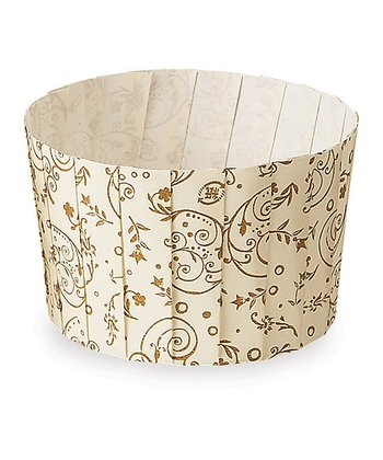 Brown Blossom Pleated Baking Cup - Set of 12