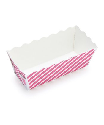 Pink Stripe Mini Loaf Pan - Set of 12