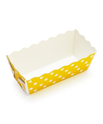 Yellow Polka Dot Mini Loaf Pan - Set of 12