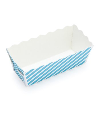 Blue Stripe Mini Loaf Pan - Set of 12