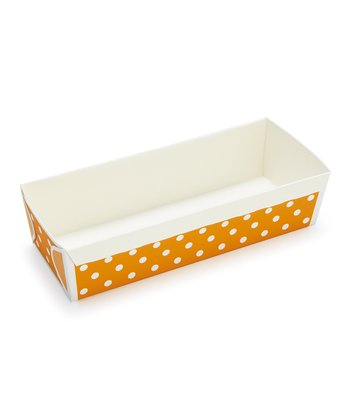 Orange Polka Dot Loaf Pan - Set of Six