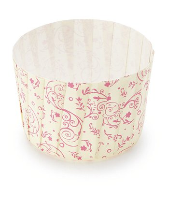 Pink Blossom Pleated Baking Cup - Set of 12