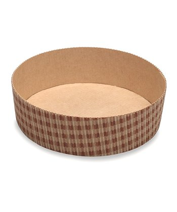 Brown Checkered Round Cake Pan - Set of Three