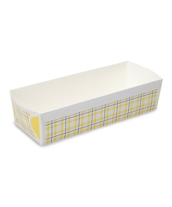 Yellow Plaid Loaf Pan - Set of Six