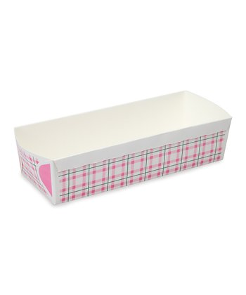 Pink Plaid Loaf Pan - Set of Six