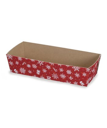 Red Snowflake Loaf Pan - Set of Six