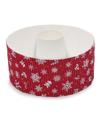 Red Snowflake Medium Cake Pan - Set of Three