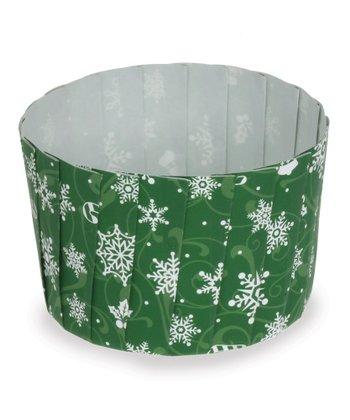 Green Snowflake Baking Cup - Set of 12