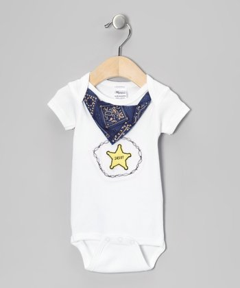 White Sheriff Bandanna Bodysuit - Infant