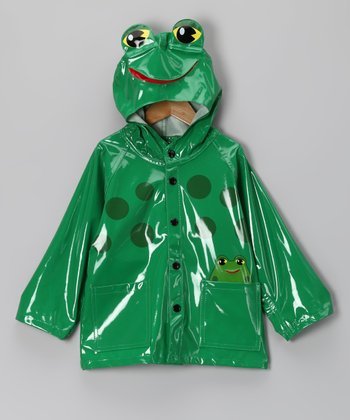 Green Frog Raincoat - Kids