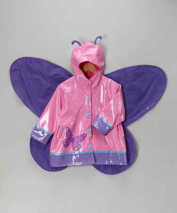 Pink Wing Raincoat - Toddler & Girls