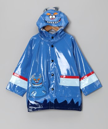 Blue Monster Raincoat - Toddler & Boys