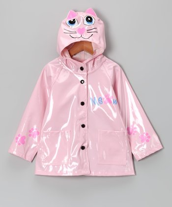 Pink Kitty Raincoat - Toddler