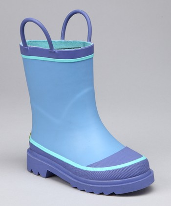 Light Blue & Lavender Rain Boot