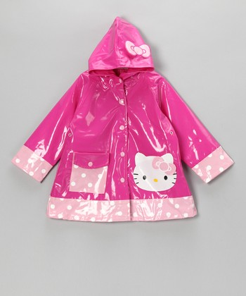 Pink Hello Kitty Cutie Raincoat - Toddler & Girls