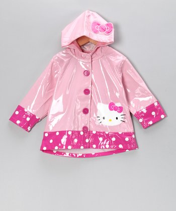 Pink Hello Kitty Polka Dot Raincoat - Toddler