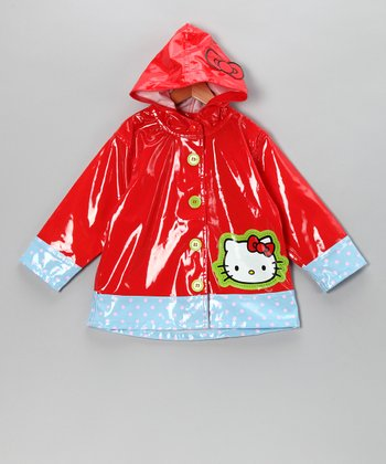 Red Hello Kitty Raincoat - Toddler