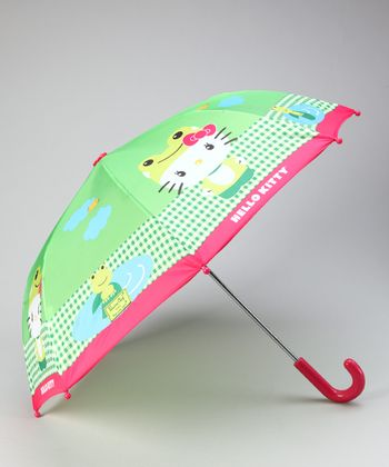 Green Hello Kitty Froggy Umbrella
