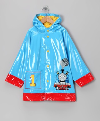 Blue '1' Thomas the Tank Engine Raincoat - Kids