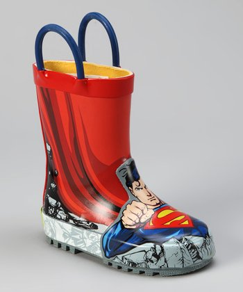 Blue Superman Rain Boot