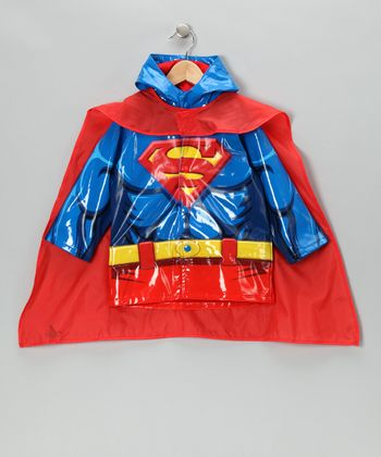 Blue Superman Raincoat & Cape - Toddler & Kids