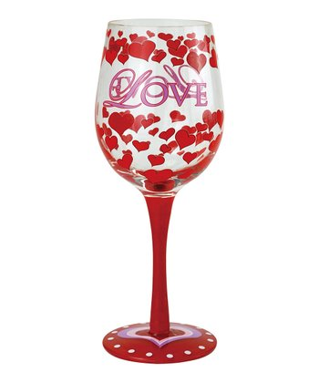 Westland Giftware Love Wine Glass
