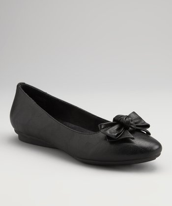 Black Tumbled Jilt Flat