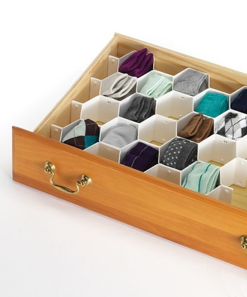 White Honeycomb Drawer Organizer