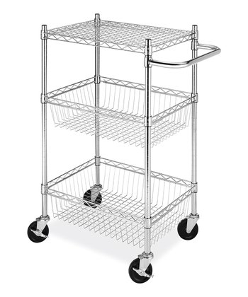 Commercial Three-Tier Basket Cart