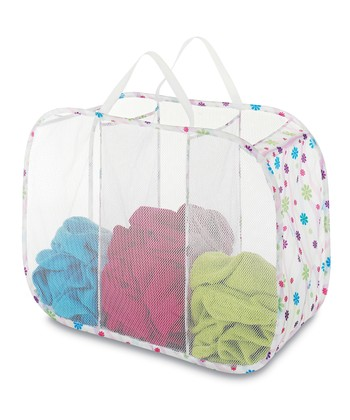 Daisy Parade Pop & Fold Triple Laundry Sorter