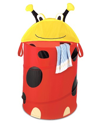 Red Ladybug Collapsible Laundry Hamper