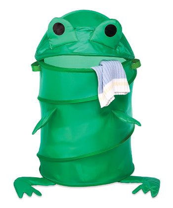 Green Frog Collapsible Laundry Hamper