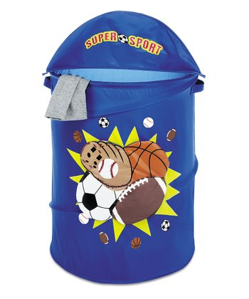 Blue Sports Collapsible Laundry Hamper