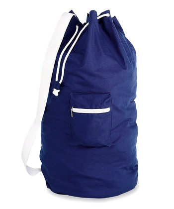 Blue Cotton Laundry Duffel